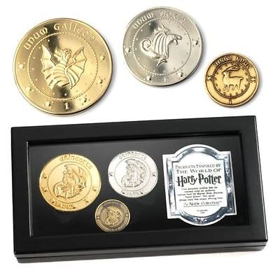 Harry Potter Gringotts Bank Coin Collection - Official Boxed Gold Plated Noble