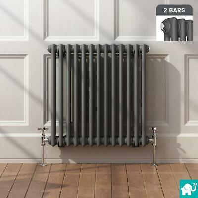 Traditional Cast Iron Style Horizontal Radiator Anthracite 2 Column Double