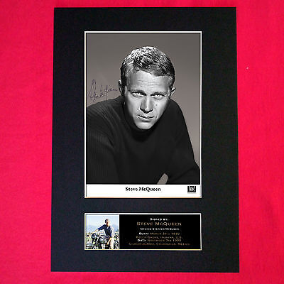 STEVE MCQUEEN Mounted Signed Photo Reproduction Autograph Print A4 336