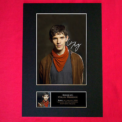 COLIN MORGAN Quality Autograph Mounted Signed Photo PRINT A4 334