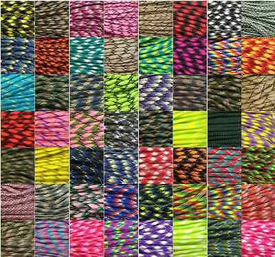 550 Paracord Parachute Cord Lanyard Mil Spec Type III 7 Strand Core#Freeshipping
