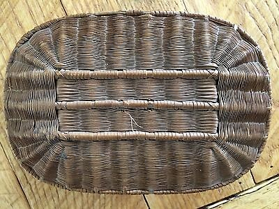Vintage Antique Sewing Basket Very Old Satin Lined As Is Woven