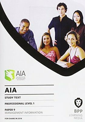 AIA 9 Management Information: Study Text New Paperback Book