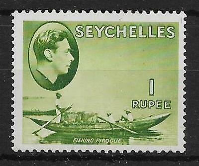 SEYCHELLES SG146 1938 1r YELLOW-GREEN MTD MINT
