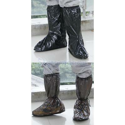 2 Pairs Rain Boots Shoes Covers Overshoes Protector Motorcycle Bicycle PVC L XL