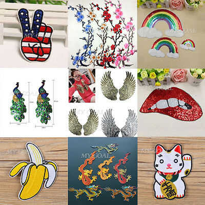 Embroidered Patch Biker Badge Sew Iron On Clothes Bag T-Shirt Jeans Applique DIY
