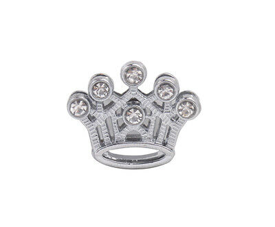 20PCS Rhinestone Slide Crown Charms DIY for 10MM Leather Cord Belt