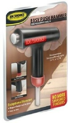 IdeaWorks Easy Push Hammer Hand Tool Nail Setter As Seen On TV