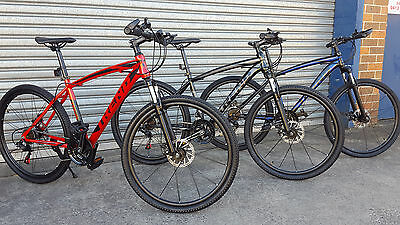 NEW TREND ALTITUDE MTB 21 Speed Mountain Bike Shimano Gears - Red / Blue