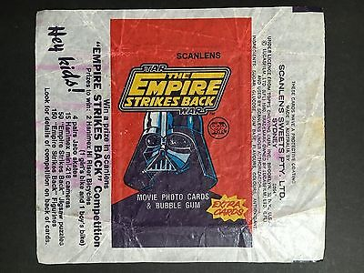 "Scanlens Star Wars ""the Empire Strikes Back"" Wrapper From 1980"