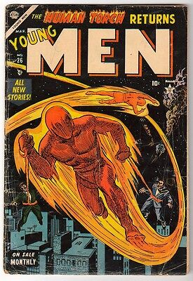 MARVEL VG- Comics  ATLAS YOUNG MEN 26  Golden age  Captain america Human torch