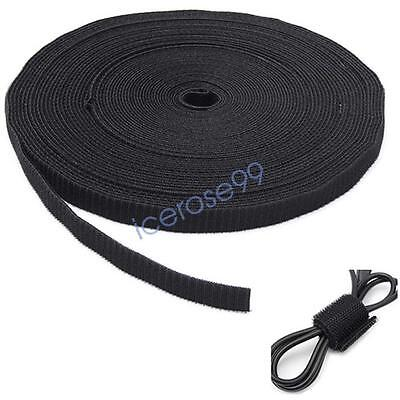 Double Sided Hook and Loop Tape Black White 10mm 20mm Cable Ties Straps