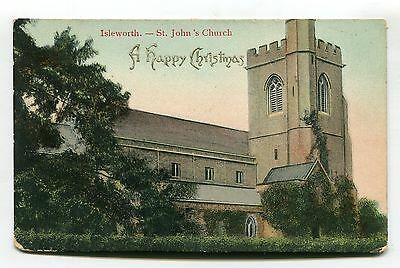 Isleworth, Middlesex - St John's Church - early postcard