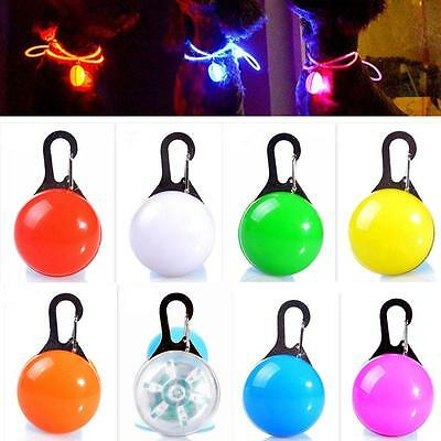 Pet Dog Cat Puppy Safety LED Clip Buckle Night Light Flashing Collar Pendant  TL