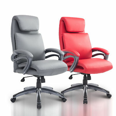 Ergonomic High Back Executive Computer Desk Task Office Chair Swivel PU Leather