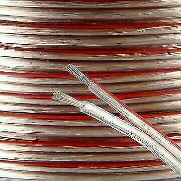30m 2x 2.5mm 14AWG Multi-Strand Loud Speaker Cable/Wire for Home or Car Audio
