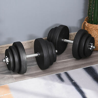 Soozier 88lbs Adjustable Dumbbell Set Home Training Workout Fitness Hand Weights