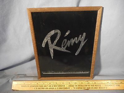 Vintage NOS man-cave REMY MARTIN BAR SIGN First Name in Cognac mirror wood frame