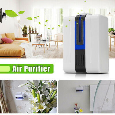 Portable LED Air Purifier Ozone Ionizer Cleaner Fresher Home Office w/ Adaptor