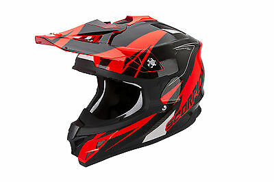 Scorpion VX-15 Air Casco cross Krush neon rojo MX Enduro Motocross casco Talla L