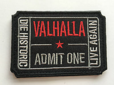 NEW VALHALLA  Ticket Moral Tactical ARMY Patch     SKA+++   524