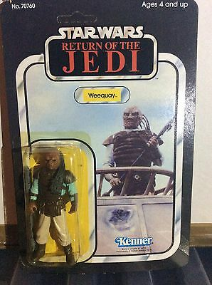 vintage star wars return of the jedi unpunched weequay figure