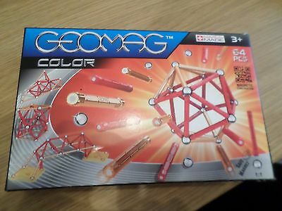 Geomag Color 64  Piece Set  New Sealed Free Post