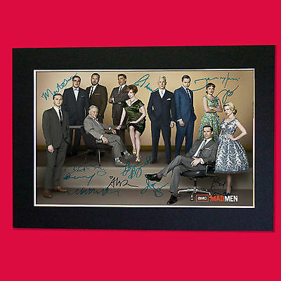 MAD MEN Mounted Signed Photo Reproduction Autograph Print A4 285