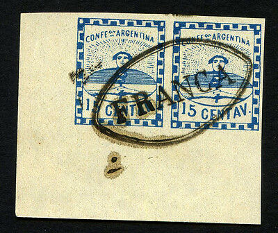 ARGENTINA Yv 3 pair used Forgery