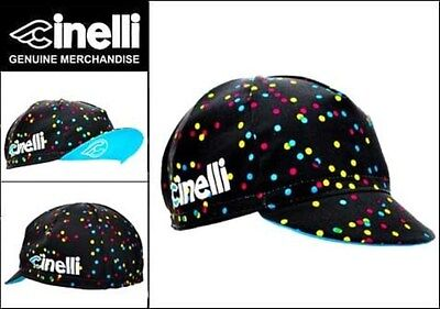 CINELLI CALEIDO SPOTS CYCLING BIKE CAP - VINTAGE - Fixed Gear - Made in Italy