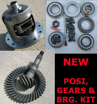 "GM Chevy 8.2"" 10-Bolt Rearend Eaton-Style Posi Gears Bearing Package - 3.36 NEW"