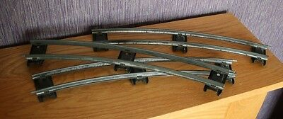 Hornby 0 Gauge Model Railway Items: Set of 8 Curved Track Sections