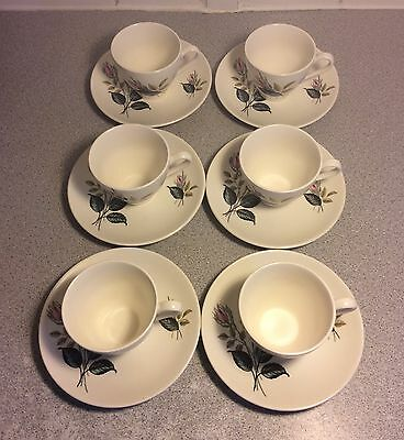 J & G Meakin Set Of 6 Coffee Cups And Saucers
