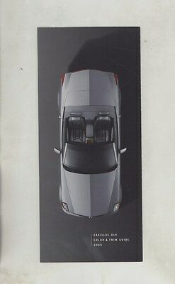 2005 Cadillac XLR Convertible Paint Colors & Interiors Guide Brochure ww3291