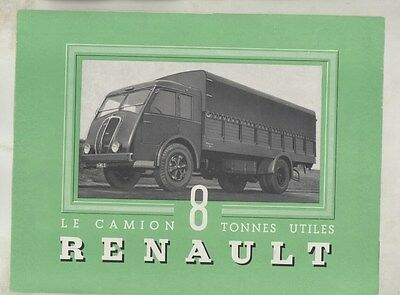 1939 Renault 8-9 ton Type AGOD Panel Stake Truck Brochure French ww3298