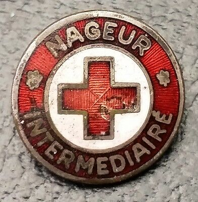Red Cross Nageur Intermediaire Pin - Free Combined Shipping