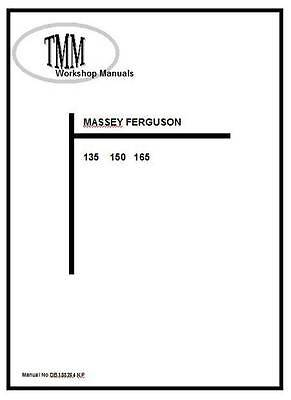 Massey Ferguson TMM 135 150 165 series Workshop  Manual  Printed