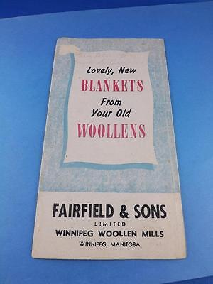 Lovely New Blankets From Your Old Woollens Catalog 1951 Fairfield Sons Manitoba