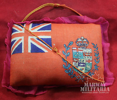 1870's Manitoba Provincial Flag Pin Cushion - RARE & Patriotic  (inv 8193)