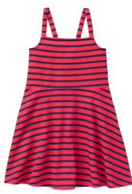 Nwt Gymboree Girls Red White & Cute Striped Knit DRESS 4th FOURTH OF JULY Size 8