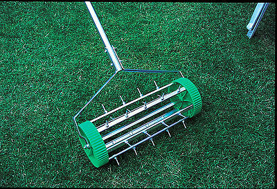 Lawn Spiked Rolling Rotary Aerator For Garden Lawn Care