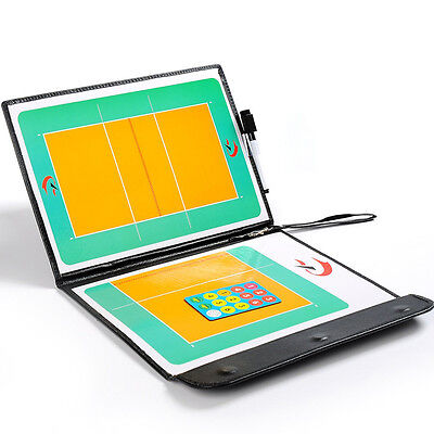Magnetic Volleyball Coaching Dry Erase Clipboard Tactical Board with Marker Set