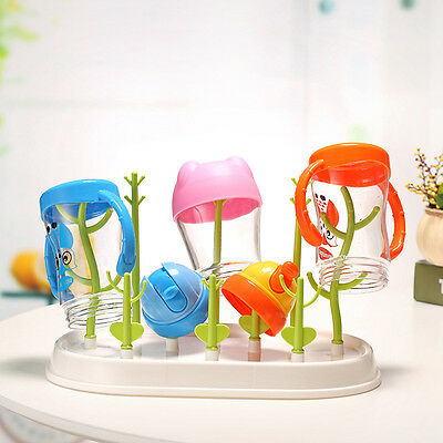 Resistant To Germs Household Tree Shape Baby Feeding Bottle Drying Rack Cup