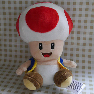 """NEW SUPER MARIO BROS. 6"""" Red Toad Stuffed Doll plush toy"""