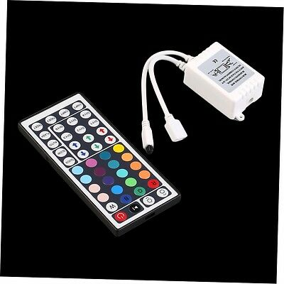 44 Key Control Box+IR Remote Controller For LED RGB 5050/3528 Light Strip FJAU