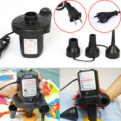 1PC Car Electric Air Pump Inflator Deflate for Air Bed Mattress Pool Boat Toy DE
