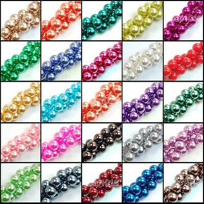 12mm Top Quality Czech Glass Pearl Round Beads 16'' Wholesale