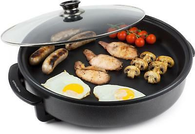 Andrew James Electric Multi Cooker Large 42cm Non Stick Frying Pan & Lid 1500W