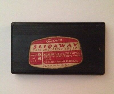 Vintage Twinco Slidaway Hair or Clothes Brush - Aug50