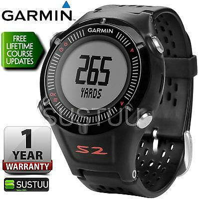 Garmin Approach S2 Golf GPS Rangefinder Black & Red Watch Worldwide Golf Course